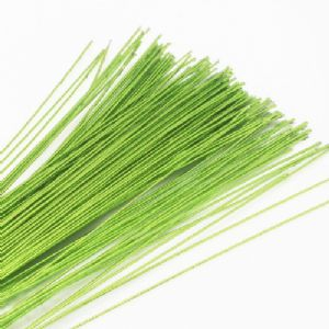 Florist wires, green, 20 pieces, Length 72cm, Diameter 0.6mm (approximate), Gauge 22, (TS114)